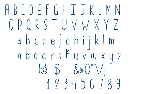 DK Pimpernel font