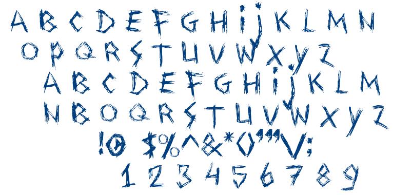 Drawing Blood font