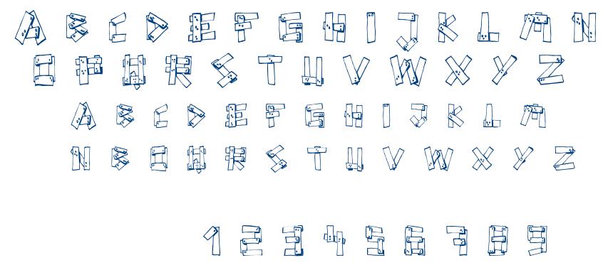 FE Planks font