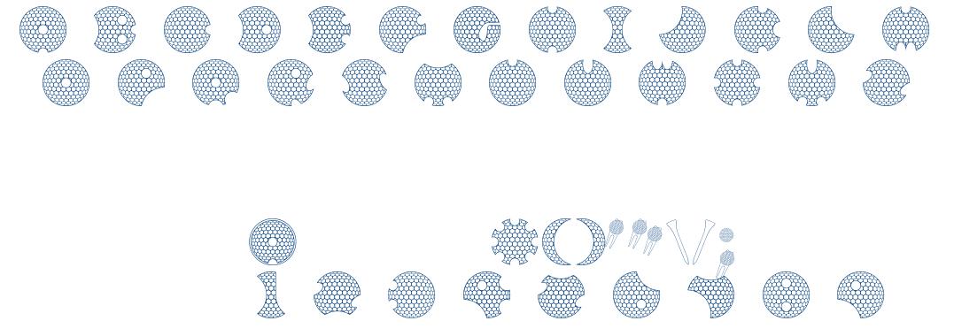 GOLFABET font
