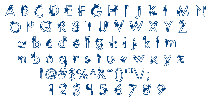 KB Ribbons and Bows font