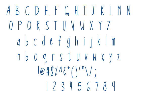 KB So Thinteresting font