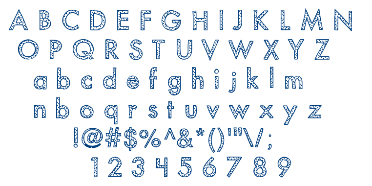 KB You've Been Spotted font