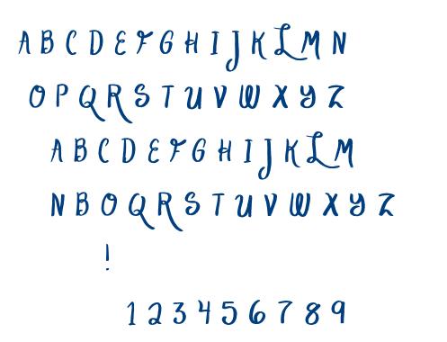 Lake Script font