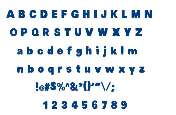 MTF Chubb font