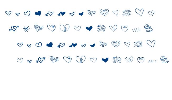 MTF Heart Doodle font