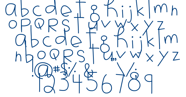 MTF Jotted font