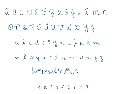 MTF Loli's Handwriting font