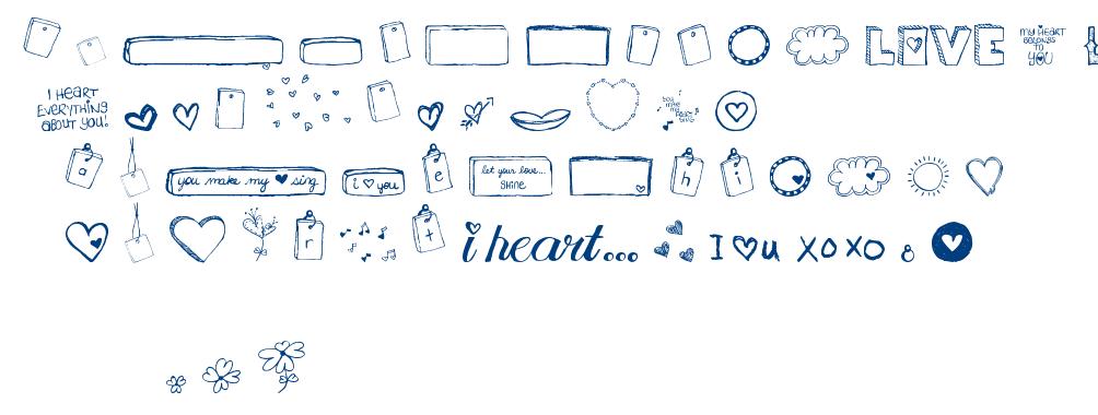 MTF I Heart Sketches font