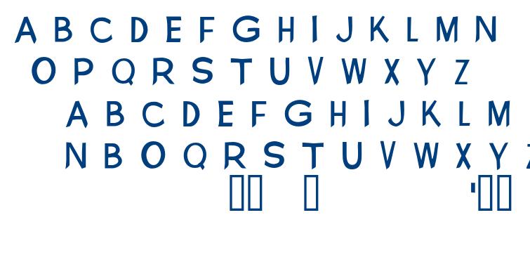 New Visions font