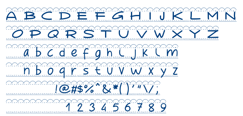 PW Broderie font