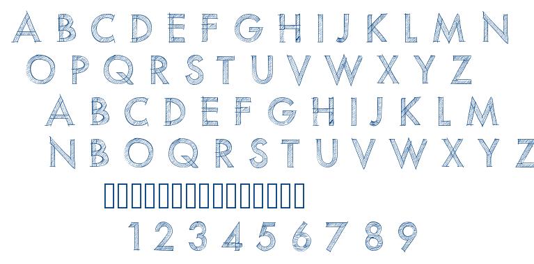 PW Scratched font font