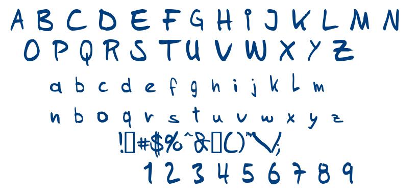 Sam's Handwriting font