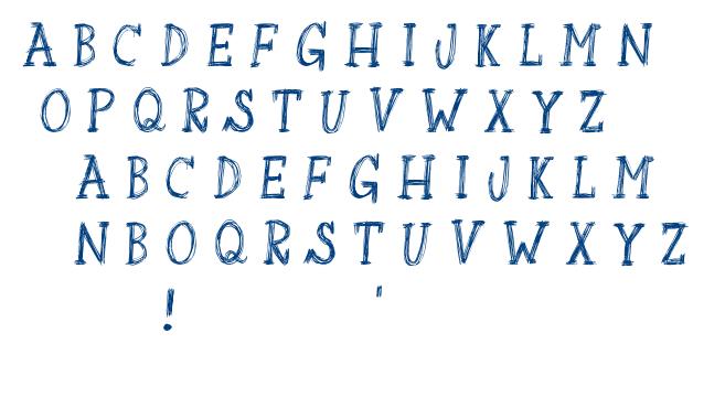Sketchbook Nasty font