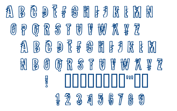Spinning Around font