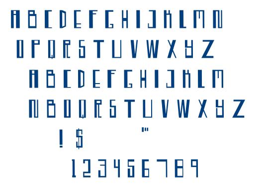 Tekno Trance font