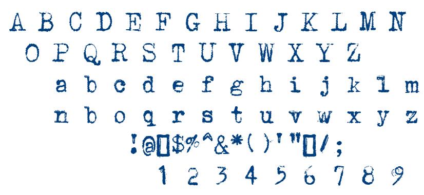 Underwood 1913 font
