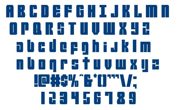 Mobile Infantry font