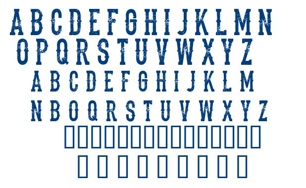 The Dead Saloon font