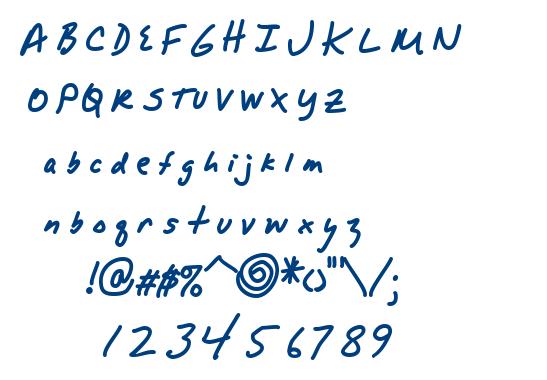 Alpha Mack AOE font