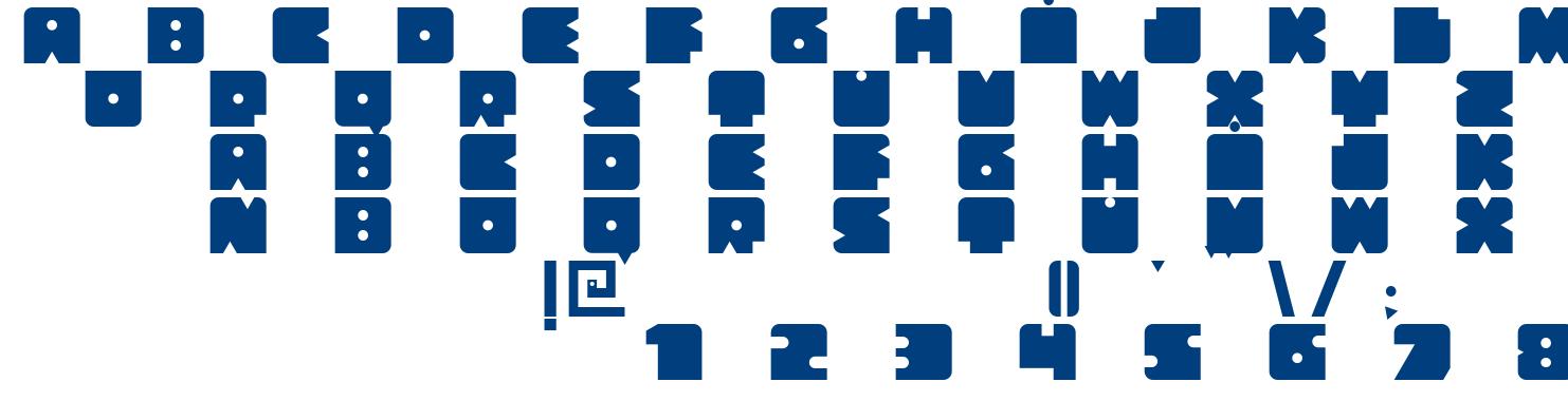 Bloquer Modular font