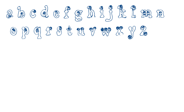 CF Little Monsters font