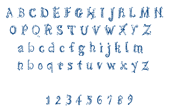 CF Spirality font