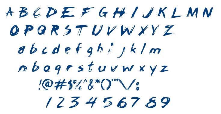 Chicken Scratch AOE font