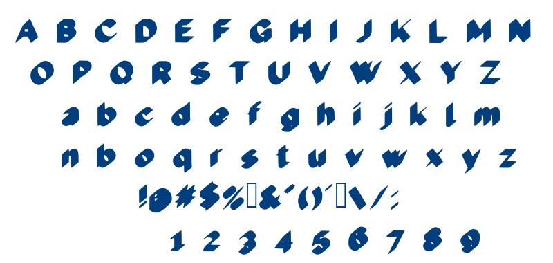 Cool 3D font