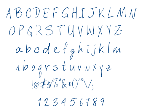 Davys Crappy Writ font