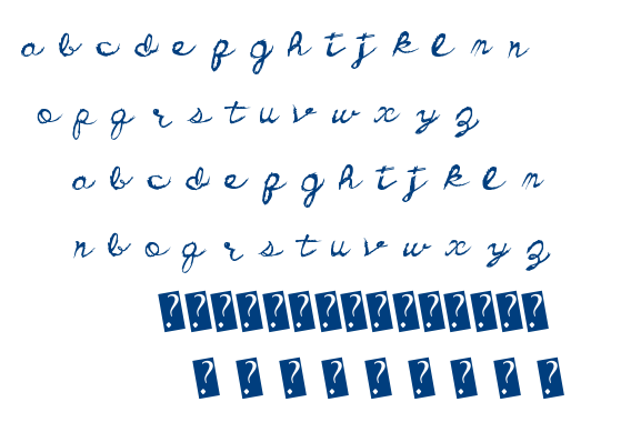 Dirty Cursive font