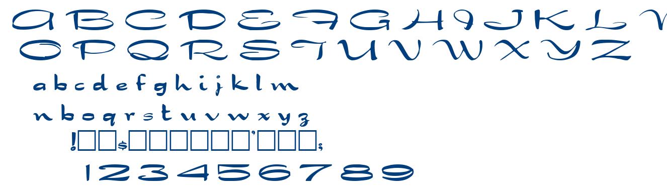 Dragon wick font