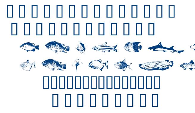 Fishy Print AOE font
