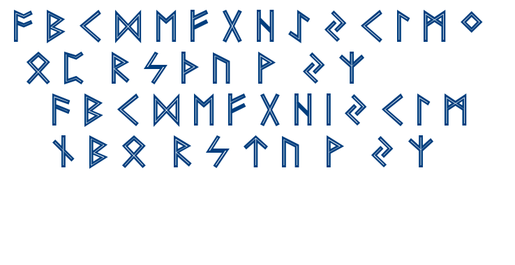 Futhark Aoe font font