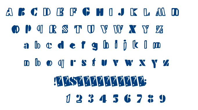 Handy Stencil font