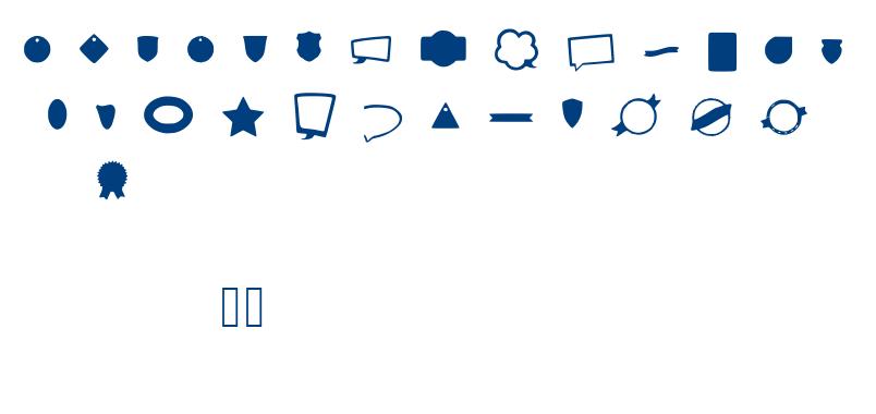 Labels font