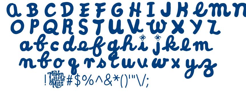 Little Miss Cursive font