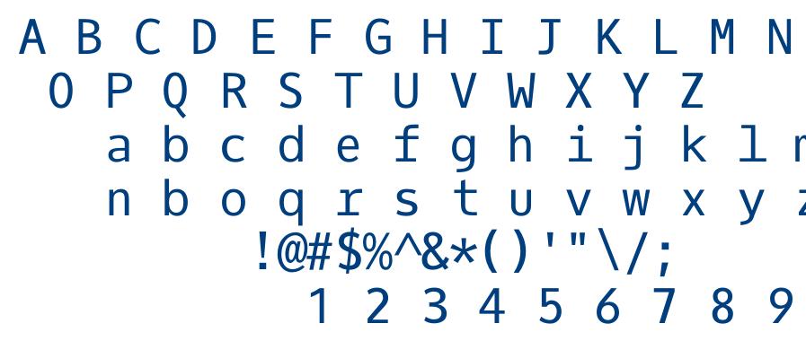 Oxygen Mono font
