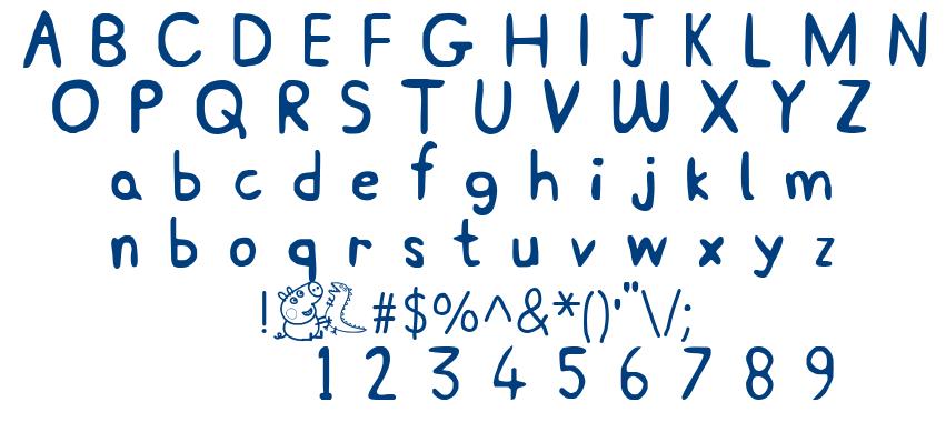 Peppa Pig font