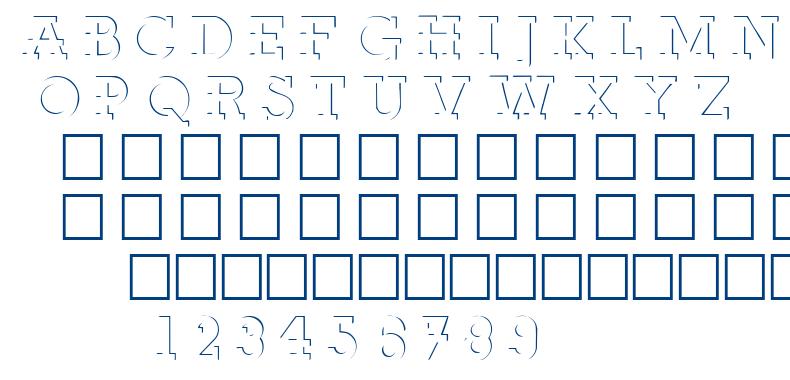 Relief Deco font