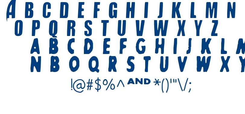 SHARKBOY & lavagirl font