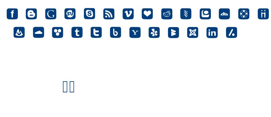 Social Font Icons font