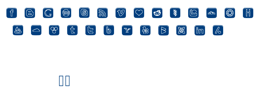 SOCIAL OUTLINE ICONS font