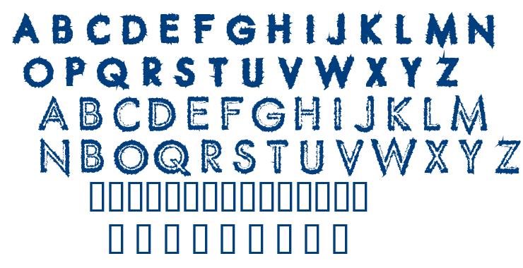 Spike Crumb Swollen font
