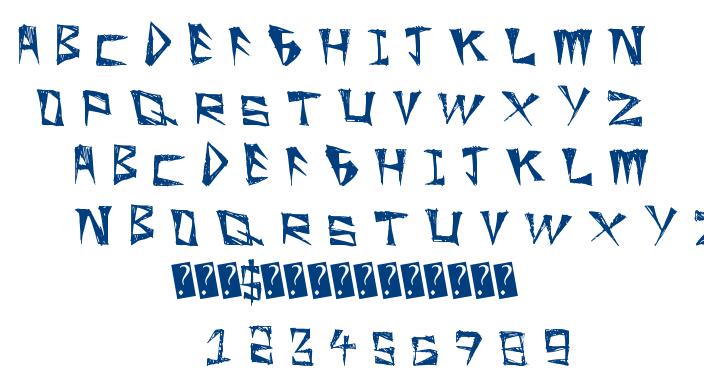 Slight Rocking font