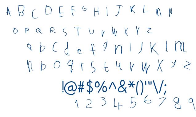 Tallula SelbyWillis aged 4 font