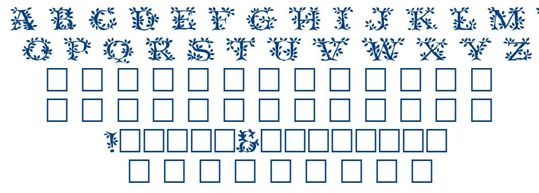 Tender leaf font