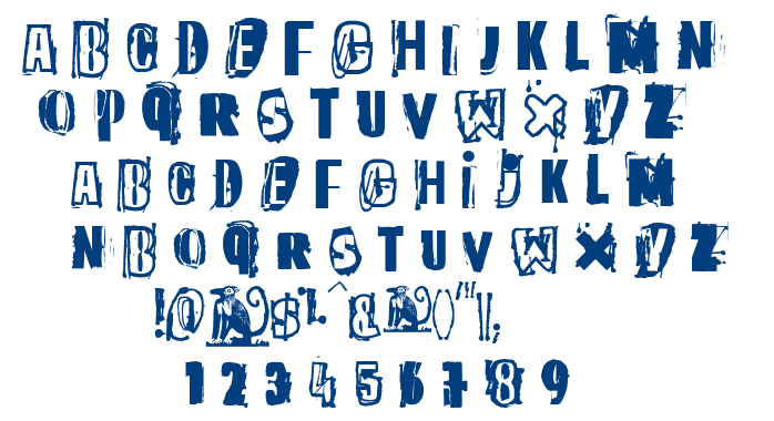 The quick monkey font