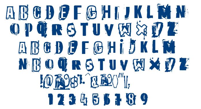 The quick monkey font