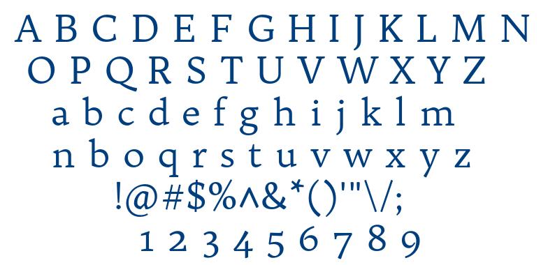 Trykker font